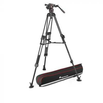 Manfrotto Nitrotech 608 + 645 Fast Twin Alu Tripod