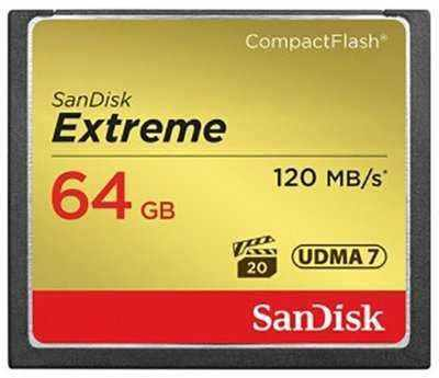 SanDisk CompactFlash Extreme 64GB 120 MB/s